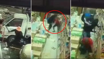 Nigerian Man Slashed With Machete By 3 Other Nigerians Inside Malaysian Store - VIDEO 13