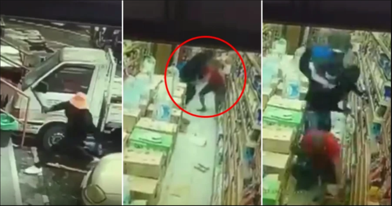 Nigerian Man Slashed With Machete By 3 Other Nigerians Inside Malaysian Store - VIDEO 1