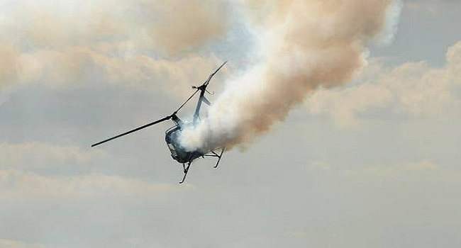 Helicopter crashes into residential building in Opebi Lagos - BREAKING NEWS 1