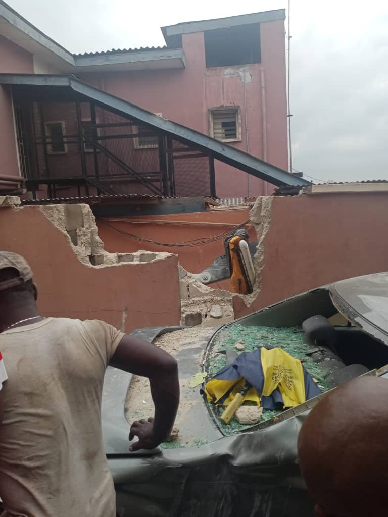 UPDATE: Photos from the scene of helicopter crash in Opebi Lagos 28