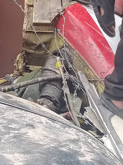 UPDATE: Photos from the scene of helicopter crash in Opebi Lagos 26