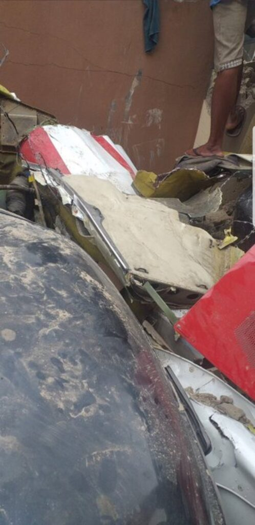 UPDATE: Photos from the scene of helicopter crash in Opebi Lagos 15