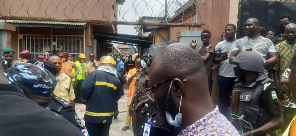UPDATE: Photos from the scene of helicopter crash in Opebi Lagos 11