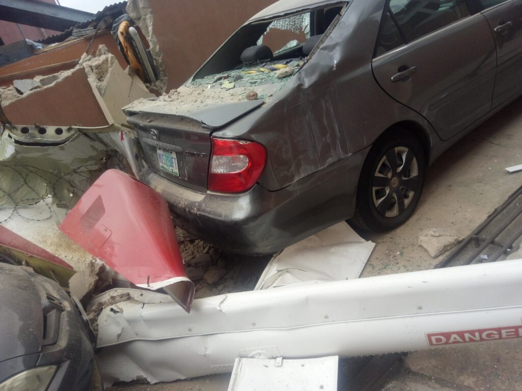 UPDATE: Photos from the scene of helicopter crash in Opebi Lagos 8