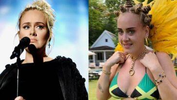 Adele Accused Of Cultural Misappropriation For Wearing Bantu Knots And Jamaican Flag Bikini 6