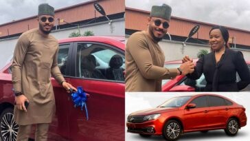 BBNaija's Ozo Receives Brand New Car Worth N8 Million From Innoson 2