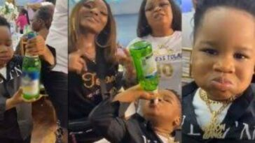 Little Boy Seen Consuming A Bottle Of Beer In The Presence Of Adults During A Party [Video] 2