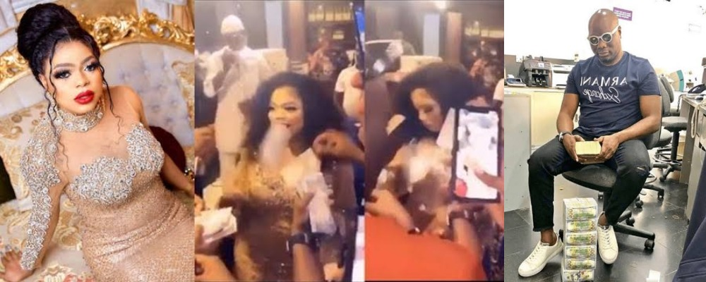 Mompha Makes It Rain With Wads Of Cash At Bobrisky's 28th Birthday Party [Video] 1