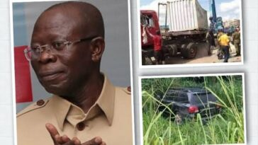 Adams Oshiomhole Escapes Death As Trailer Kills His Two Security Aides In Edo Auto Crash 4