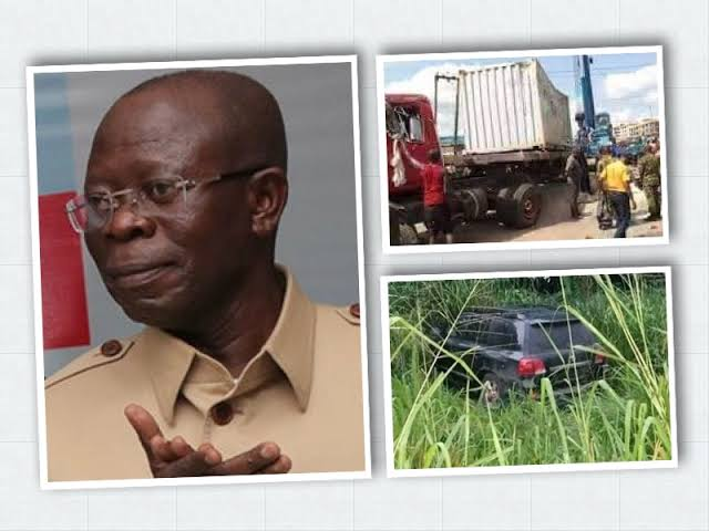 Adams Oshiomhole Escapes Death As Trailer Kills His Two Security Aides In Edo Auto Crash 1