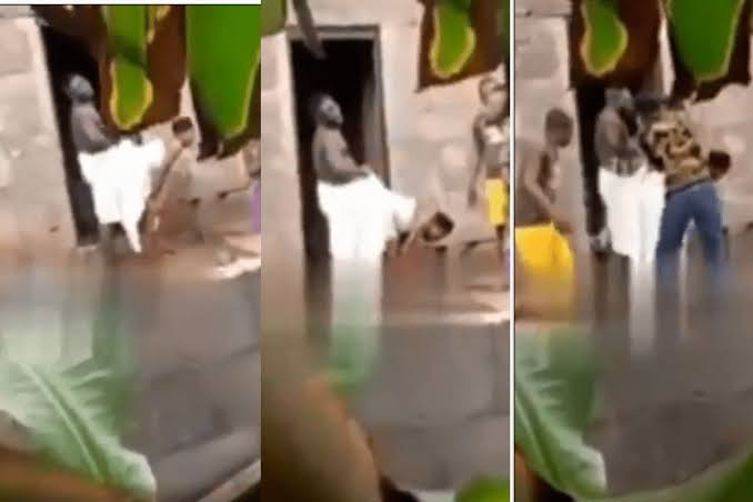 Magun: Married Woman Exposed After Getting Stuck To Lover While Having Sεx In Ogun [Video] 1