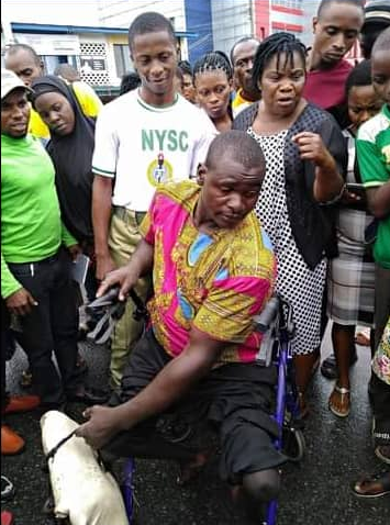 Former NYSC Corp Member Used His Allowance To Purchase Wheelchairs For Less Privileged 3