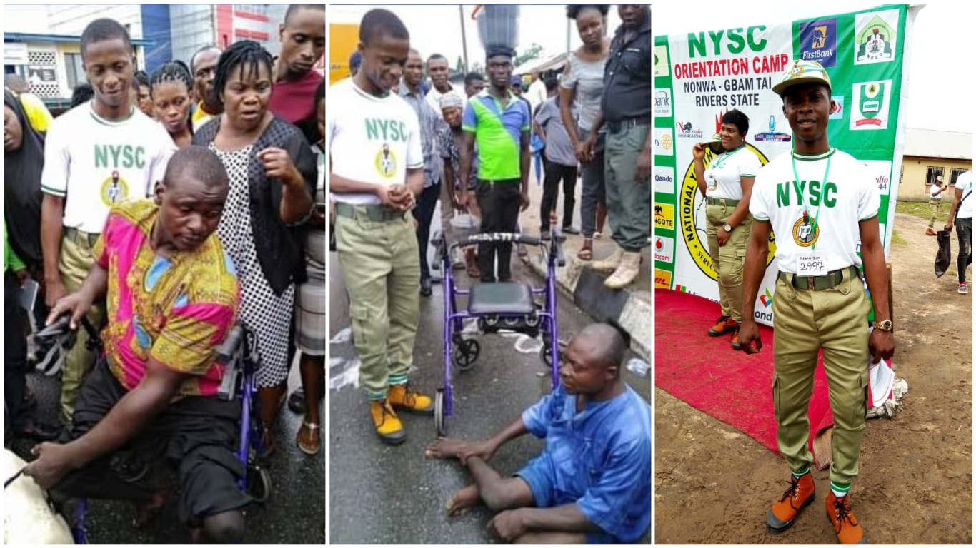 Former NYSC Corp Member Used His Allowance To Purchase Wheelchairs For Less Privileged 1