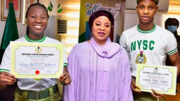 Two NYSC Members Gets Automatic Employment In FCT For Their Outstanding Performance 6