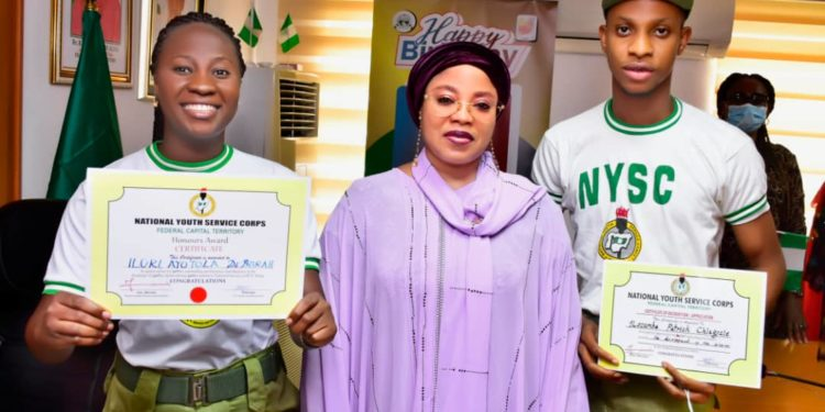 Two NYSC Members Gets Automatic Employment In FCT For Their Outstanding Performance 1