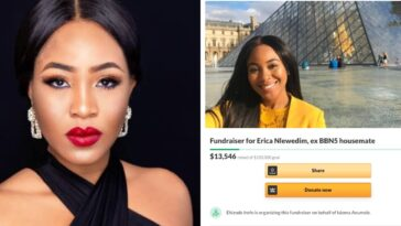 BBNaija: Nigerians Raises Over $13,000 For Erica, Gifts Her A Car 7 Hours After Disqualification 3