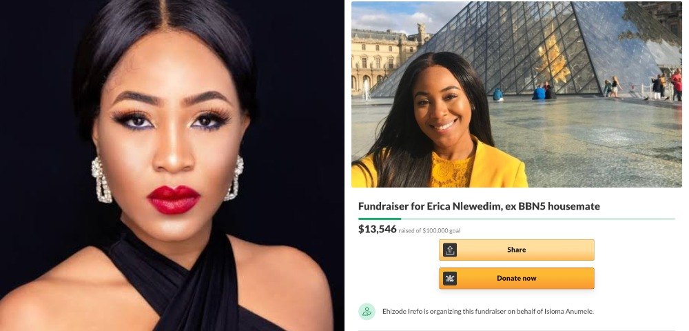 BBNaija: Nigerians Raises Over $13,000 For Erica, Gifts Her A Car 7 Hours After Disqualification 1