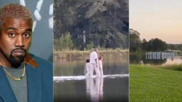 Kanye West, Pastor Joel Osteen 'Walks On Water' With His Crew During Sunday Service [Video] 3