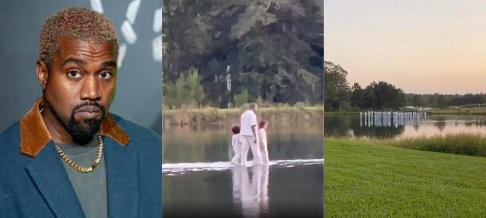 Kanye West, Pastor Joel Osteen 'Walks On Water' With His Crew During Sunday Service [Video] 1