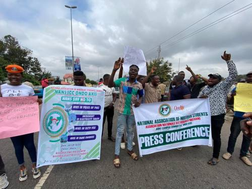 Nigerian Students Kicks Off Nationwide Protest Over Increase In Electricity, Petrol Price [Photos] 1