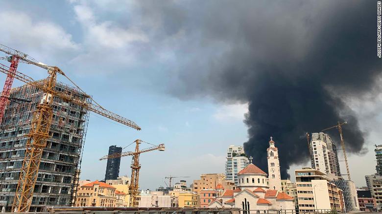 Huge fire at port of Beirut Lebanon just weeks after deadly explosion 2