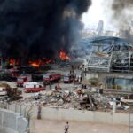 Huge fire at port of Beirut Lebanon just weeks after deadly explosion 18