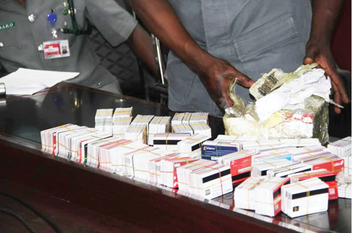 Customs Arrests Nigerian Man Traveling To Dubai With 2,886 ATM Cards At Lagos Airport 2