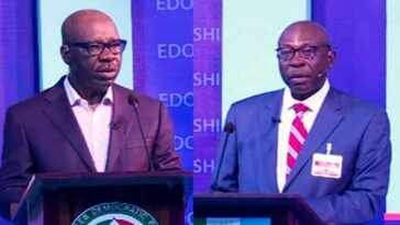 Claims And Counter Claims Dominate As Obaseki, Ize-Iyamu Engage In Edo Election Debate 5