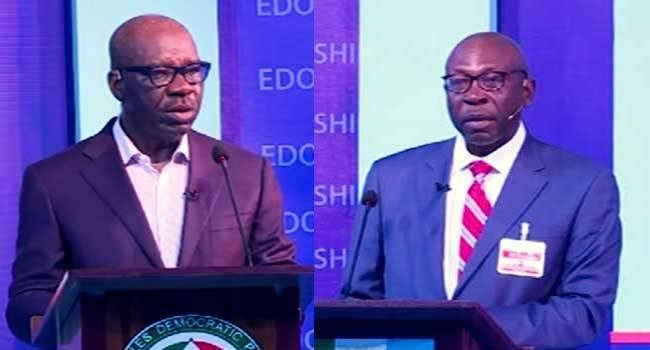 Claims And Counter Claims Dominate As Obaseki, Ize-Iyamu Engage In Edo Election Debate 1