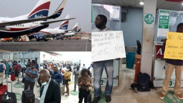 Passengers Stranded As Aviation Unions Shutdown Arik Air Operations In Lagos Over Unpaid Salaries 5