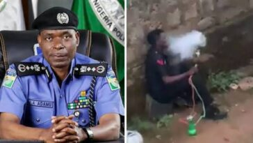 Nigerian Police Reacts After An Officer Was Caught On Camera Smoking Shisha In Public [Video] 11