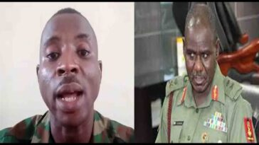 Army Boss, Buratai Reportedly Orders Soldiers To Torture Lance Corporal Martins For Criticising Him 2