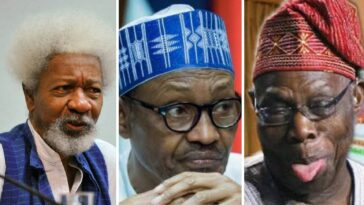 Wole Soyinka Backs Obasanjo's Claims, Says Nigeria Is Divided Like Never Before Under Buhari 2