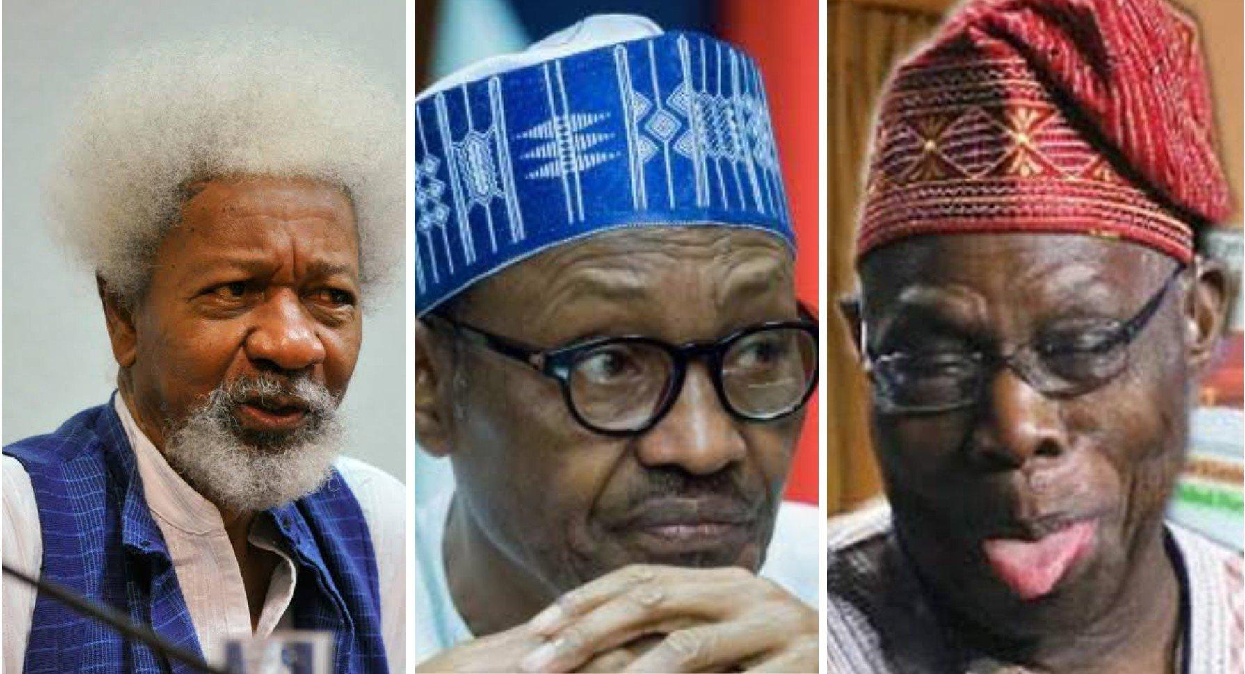 Wole Soyinka Backs Obasanjo's Claims, Says Nigeria Is Divided Like Never Before Under Buhari 1