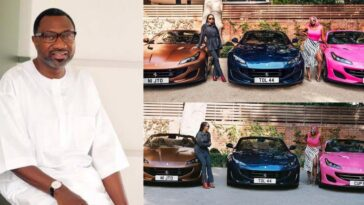 DJ Cuppy Shows Off Three Ferrari Cars Her Father, Otedola Bought For Her And Siblings [Photos] 11
