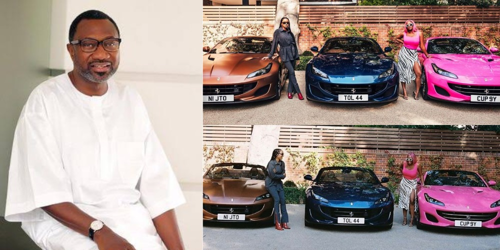 DJ Cuppy Shows Off Three Ferrari Cars Her Father, Otedola Bought For Her And Siblings [Photos] 1
