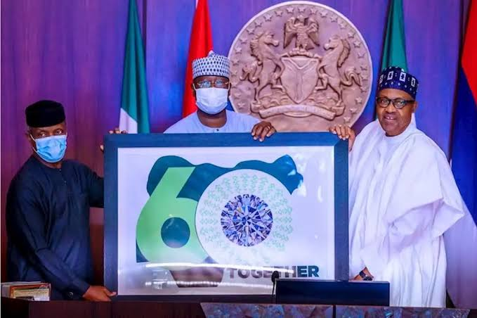 Buhari Unveils 60th Independence Logo, Says 'Nigeria Most Prosperous Black Nation In The World' 1
