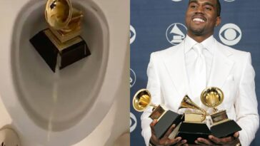"""Trust Me...I Won't Stop"" - Kanye West Says As He Urinates On His Grammy Award In The Closet [Video] 13"
