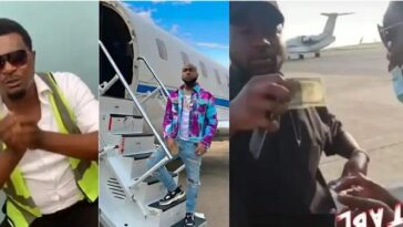 Airport Official Who Davido Gifted $100 Cries Out To Him After Getting Sacked Over Begging [Video] 11