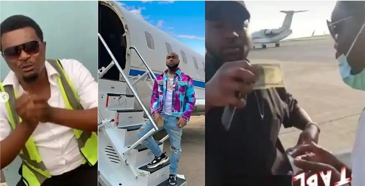 Airport Official Who Davido Gifted $100 Cries Out To Him After Getting Sacked Over Begging [Video] 1