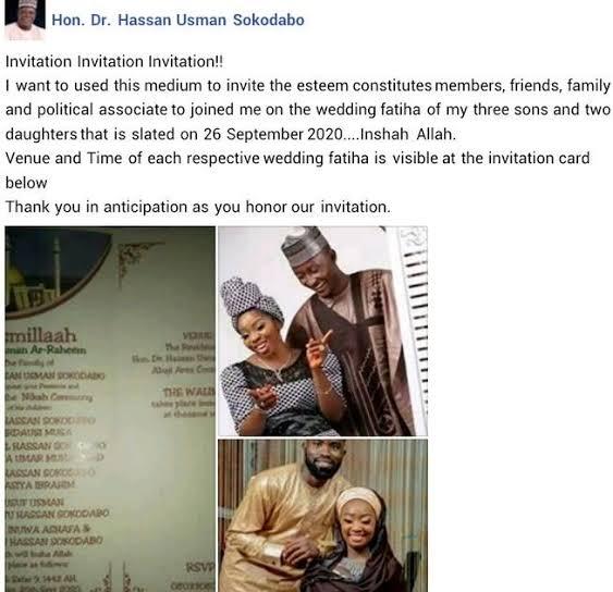 Five Children Of Nigerian Lawmaker Set To Wed On Same Day In Abuja 2