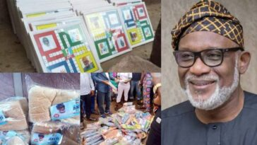 Outrage As Governor Akeredolu Shares Bread, Ludo And Slippers Ahead Of Ondo Guber Elections 2