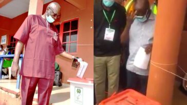 Edo Election: Oshiomole, Ize-Iyamu Cast Their Votes, Expresses Confidence That APC Will Win 5