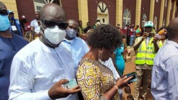 Edo Election: Fight Breaks Out At Polling Unit As Governor Obaseki And Wife Cast Their Vote 12