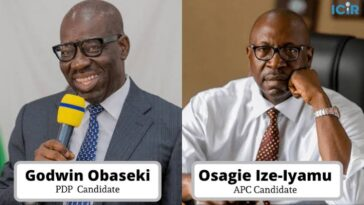 Edo Decide: Obaseki Leading Ize-Iyamu With 0ver 80,500 Votes From 16 Out Of 18 LGAs 13