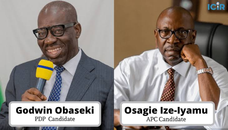 Edo Decide: Obaseki Leading Ize-Iyamu With 0ver 80,500 Votes From 16 Out Of 18 LGAs 1