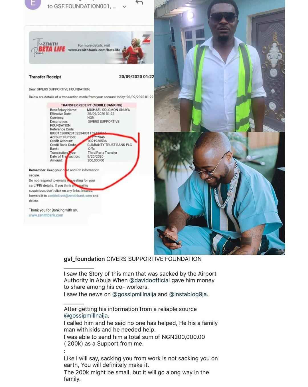 Good Samaritan Gifts Airport Official N200,000 After He Lost His Job Because Of Davido 2