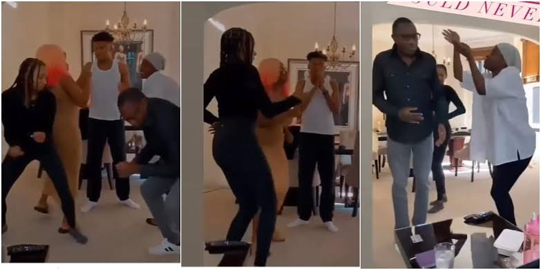 Billionaire, Femi Otedola Dances With His Children As They Have Fun Together At Home [Video] 1