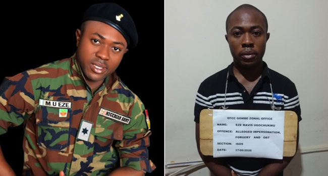 EFCC Arrests Student Who Poses As Army Lieutenant To Defraud Nigerians 1
