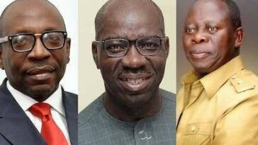EDO: Obaseki Receives Certificate Of Return, Seeks Support From Oshiomhole, Ize-Iyamu, APC 9
